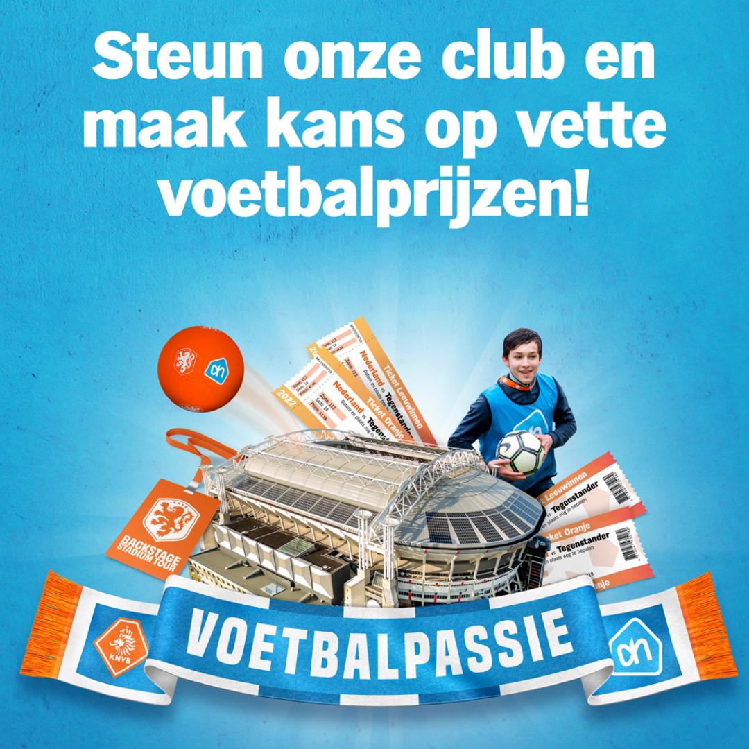 Help ons gratis door mee te sparen met Voetbalpassie!